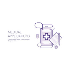medical application mobile doctor consultation vector image