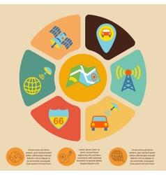 Mobile navigation infographics vector image
