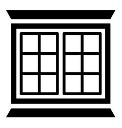 Modern window frame icon simple black style vector