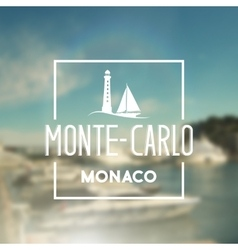 Monte-carlo travel print vector