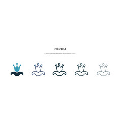 Neroli icon in different style two colored and vector
