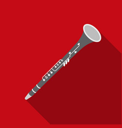 Oboe icon in flat style isolated on white vector