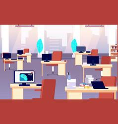 office interior quarantine time isolation period vector image