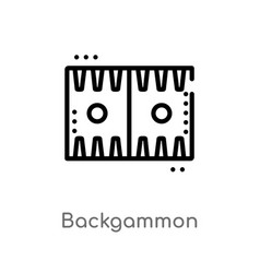 Outline backgammon icon isolated black simple vector