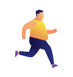 overweight man jogging vector image