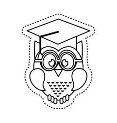 owl with graduation hat icon vector image