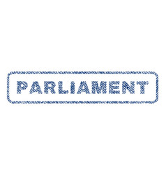 parliament textile stamp vector image vector image