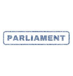 parliament textile stamp vector image