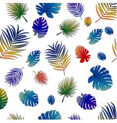 pattern vivid gradient tropical leaves vector image