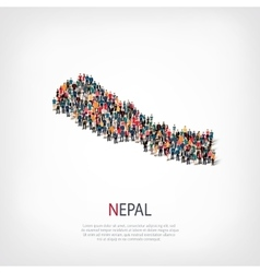 People map country Nepal vector