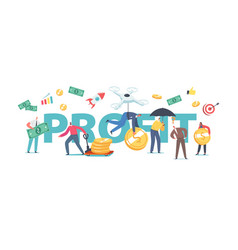 Profit concept people money savings investment vector