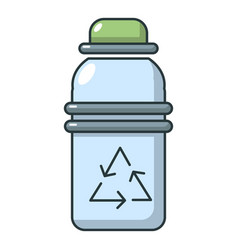 Purified water bottle icon cartoon style vector