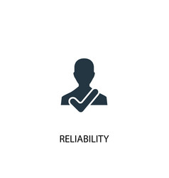 Reliability icon simple element vector