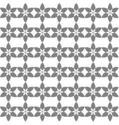 Seamless joined floral grey pattern vector