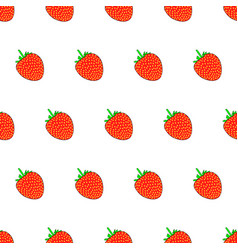 seamless pattern from strawberry on white vector image