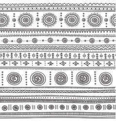 Seamless pattern with ethnic tribal boho trendy vector