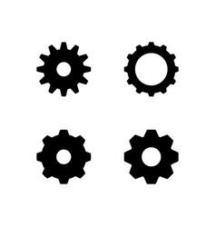 set glyph icons cogwheel vector image