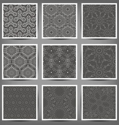 Set of Arabic seamless patterns vector