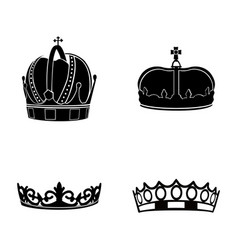 Set of royal crowns vector