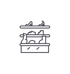 shoe stand line icon sign on vector image