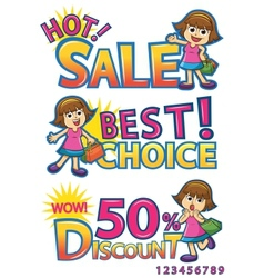 shoping vector image