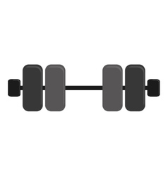 single dumbbell icon image vector image