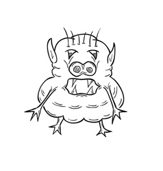 sketch of the ugly creature vector image vector image