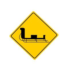 Sledge warning sign vector