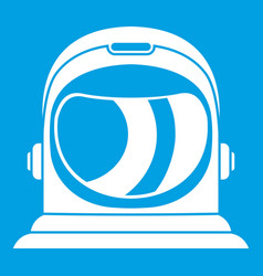 Space helmet icon white vector