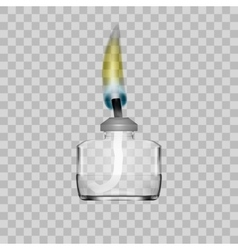 Spirit Lamp Burner For Chemical Lab On Transparent vector