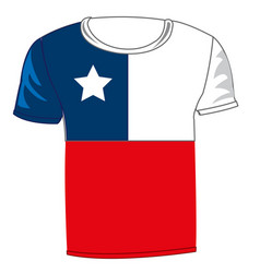T-shirt flag chile vector