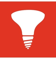 The halogen bulb icon Lamp and bulb lightbulb vector