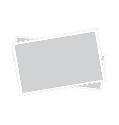 three old blank postage paper stamp frames vector image