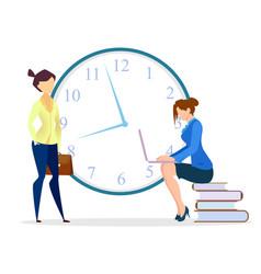 time management women team get best service vector image