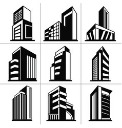 tower building icon vector image
