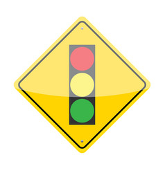 Traffic Lights Ahead Sign vector