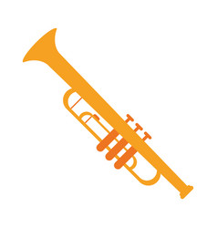 trumpet musician instrument icon vector image