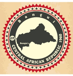 Vintage label-sticker cards of Central African Rep vector