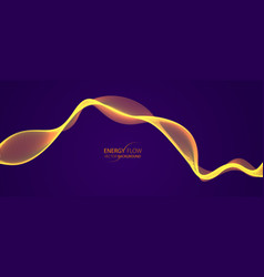 wave of flowing particles over dark modern vector image