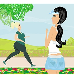 Woman wants to lose weight vector