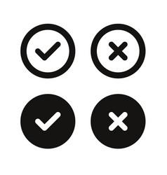 Yes no icon circle vector