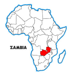 zambia vector image