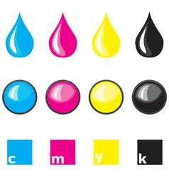drops cmyk vector image