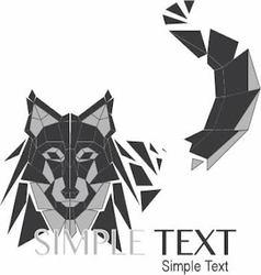 Geometric wolf logo or husky 01 vector