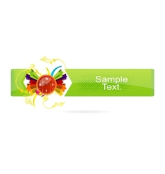 green grunge banner on the white vector image