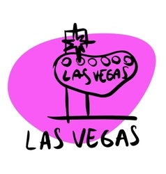 Las Vegas Nevada USA vector image