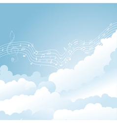 music clouds vector image