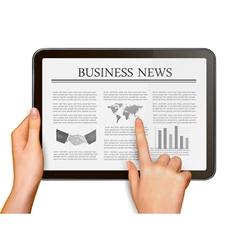 touchscreen tablet vector image vector image