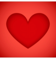 Bright red plastic cutout heart vector image vector image