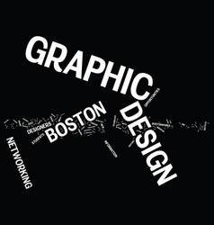 graphic design boston text background word cloud vector image vector image
